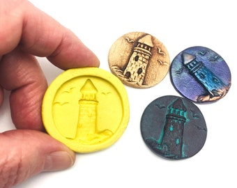 Silicone Flex Mold - 32mm Lighthouse - for Jewelry, Polymer Clay, Resin, Clay, precious metal clay, Paper clay, soap, Chocolate and crafts