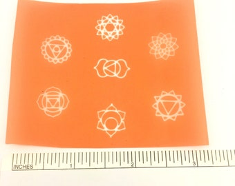 Beadcomber Silk Screen -  small 7 Chakra Silkscreens for polymer clay, paper, fabric, glass, metal and more and DIY