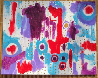 The Matrix 11x14 acrylic painting on canvas paper