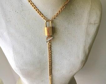 Authenthc Designer Lock Y Necklace