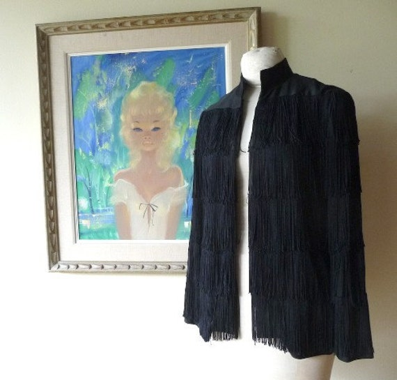 Lilli Diamond Black Fringe Jacket