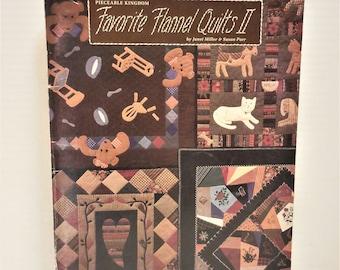 Flannel Quilt Instruction Pattern Book   Favorite Flannel Quilts 2   Pieceable Kingdom Book