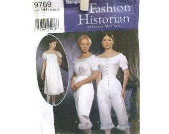 Simplicity Retro Women's Undergarment Pattern   Corset, Chemise And Drawers Pattern   Civil War Costume