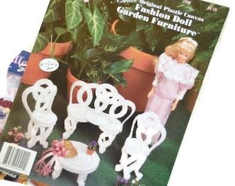 DIY Barbie Size Furniture | Fashion Doll Plastic Canvas Garden Furniture | Annie's Attic Instruction Book
