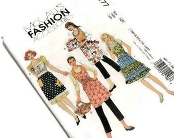 Apron Pattern #M6177  McCall's Fashion Accessories   Apron And Casserole Carrier Sewing Pattern