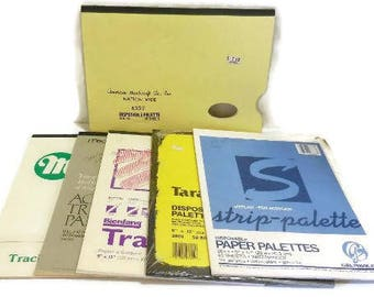 Six Disposable Palette Paper Pads and Tracing Pads