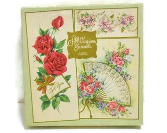 Vintage All Occasion Cards Box | Empty Box With Roses Designs | Box For Mixed Media