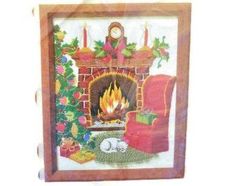 Vintage 1986 Christmas Cozy Hearth Stitchery Kit