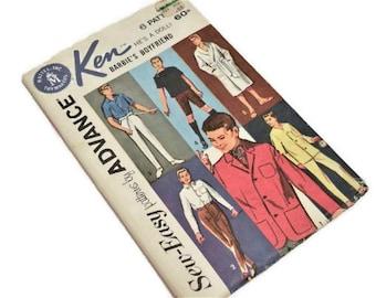 Ken Doll Wardrobe Pattern   Advance Actual Sewing Pattern for Ken Fashion Doll   Actual Original Tissue Sewing Pattern   Not A PDF Pattern