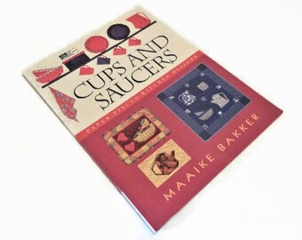 Quilting Designs with Kitchen Theme   Cups And Saucers    Book of Paper Piecing Quilt Designs