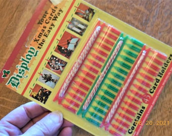Unopened Package Mini Plastic Clothespins   Christmas Card Display   Clothesline And Clothespins Card Holder
