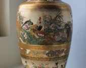 Stunning Antique Japanese Satsuma Vase - Kinkozan