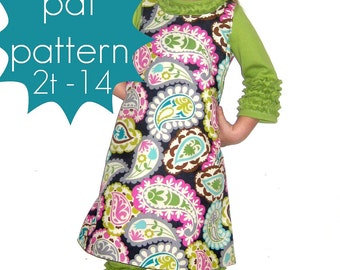 A-Line Shift Tunic or Dress - INSTANT download - 2t - 14 and doll - Handmade PDF Sewing Pattern