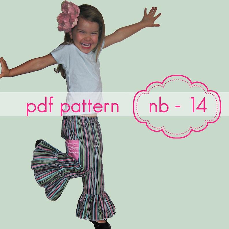 Mega Ruffle Pants  INSTANT download  shorts capris full image 0