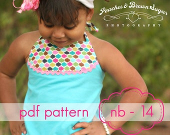 Sandcastle Halter Top - INSTANT download - nb-14 - pdf sewing pattern