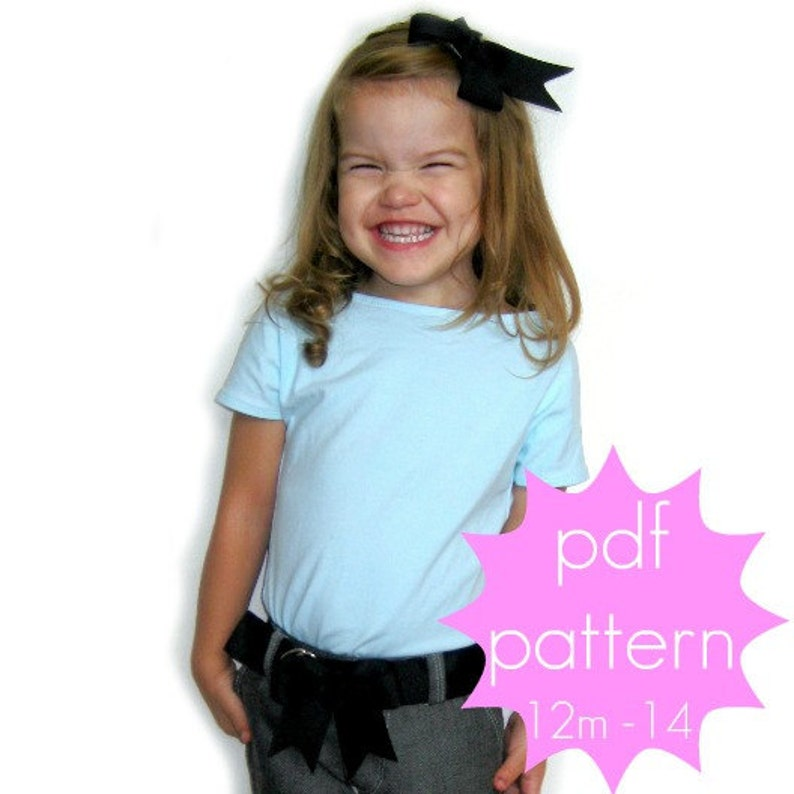 Easy Cap Sleeve Tee  INSTANT download  PDF Sewing Pattern image 0