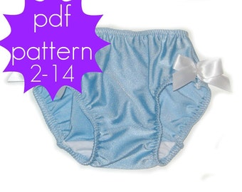 Basic Brief Bottoms - INSTANT download - PDF Sewing Pattern - Sizes NB - 14, Doll