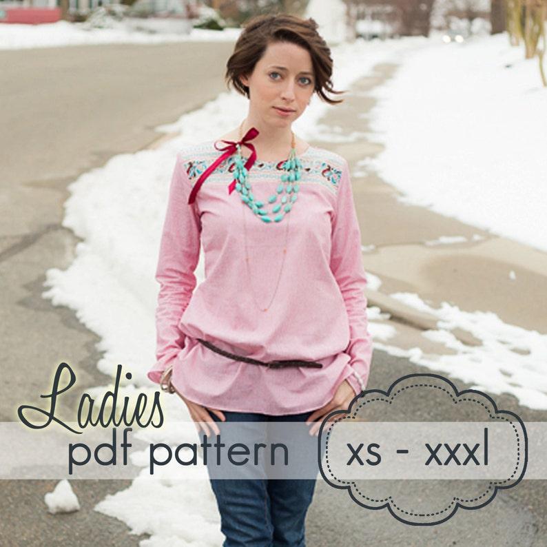 Ladies Quick Dress & Top  INSTANT DOWNLOAD  xs through xxxl image 0