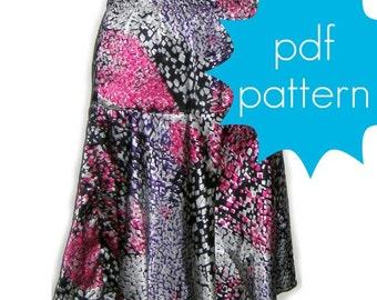 Easy Swing Skirt - INSTANT download - Women's PDF Sewing Pattern - xs, s, m, l, xl, xxl
