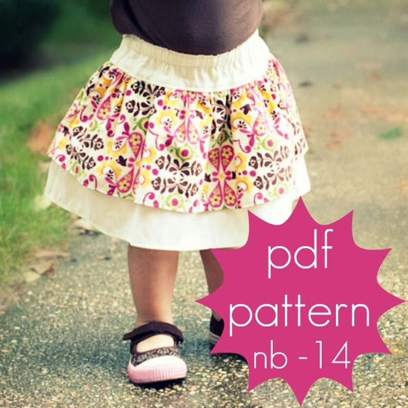 Double Layer Ruffle Skirt  INSTANT download  pdf sewing image 0