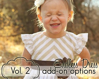 Girls Endless Dress - Volume 2 Add-On Pack - INSTANT DOWNLOAD - nb through 14 + doll - pdf sewing pattern