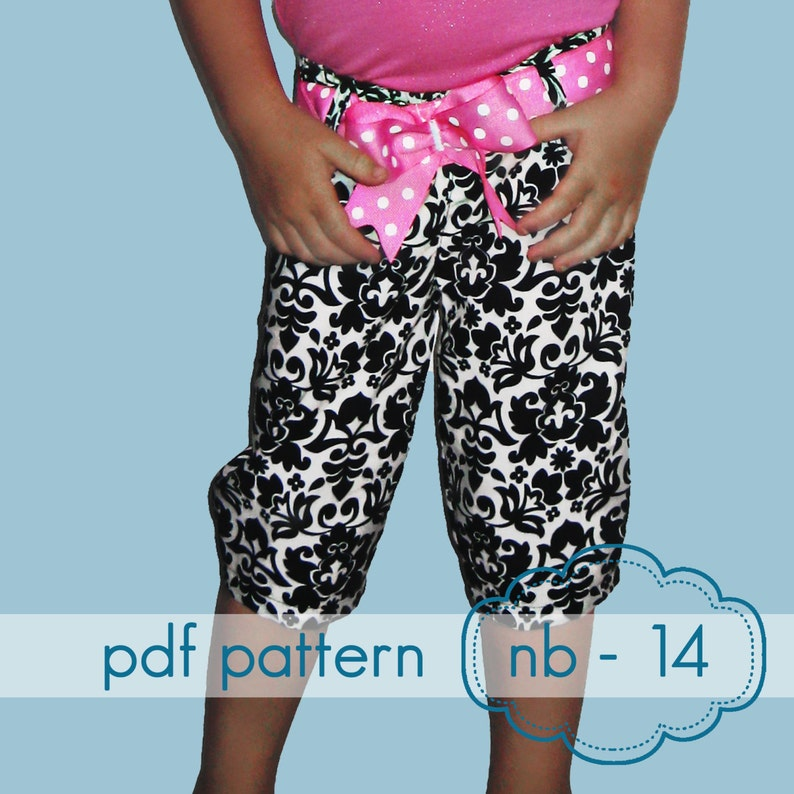 Skinny Minnie Pants  INSTANT download  nb  14 and doll  image 0