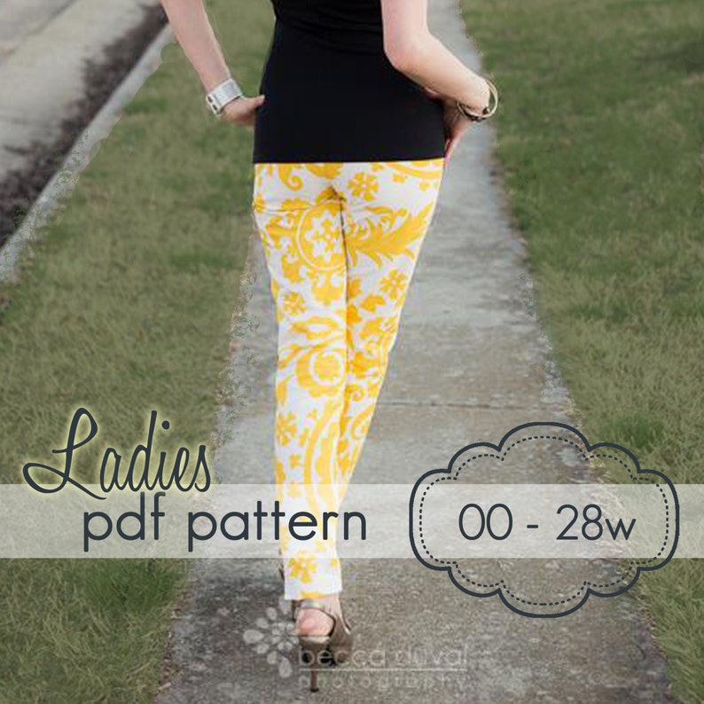 Ladies Skinny Pants Capris and Shorts  INSTANT DOWNLOAD  00 image 0