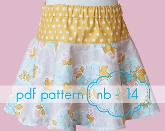 Drop and Twirl Circle Skirt - INSTANT download - pdf sewing pattern - nb - 14 and doll
