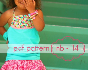Bouncing Bubble Skirt or Skorts - INSTANT download - pdf sewing pattern - nb - 14 - 3 length options