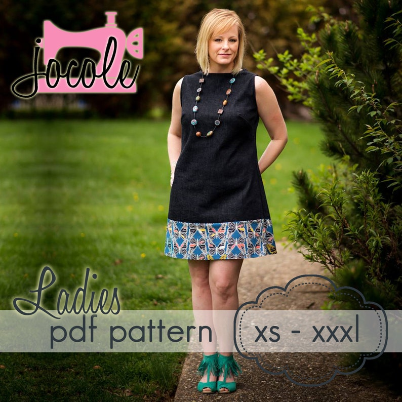 Ladies A-Line Shift Dress & Tunic  INSTANT DOWNLOAD  xs image 0