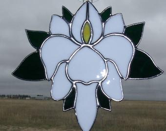 Hand Made Stained Glass Fleur de lis Sun Catcher