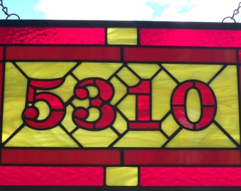 House Numbers, Custom Stained Glass Address Signs, Gift For New Home
