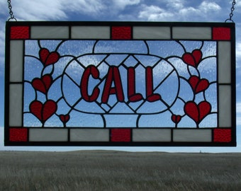 Custom Stained Glass Window Panels Made to Order, Wedding Gift for Couple, Third Anniversary