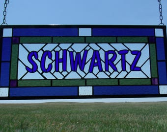 Custom Stained Glass Window Panels