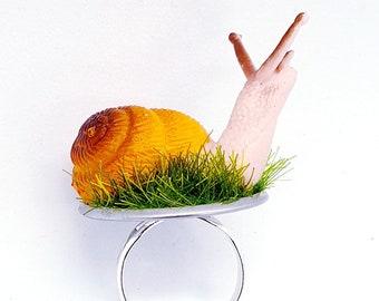 Garden Snail Ring