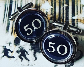 Vintage Typewriter Keys 50 Cufflinks