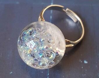 Rainbow Bubbles Ring