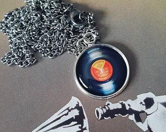 Vinyl Record Pendant Necklace