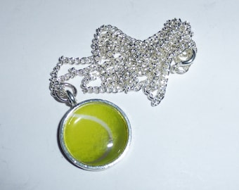 Tennis Ball Pendant Necklace