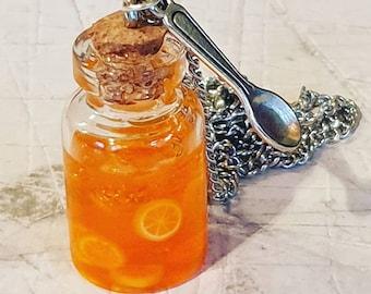 Orange Marmalade & Spoon Necklace