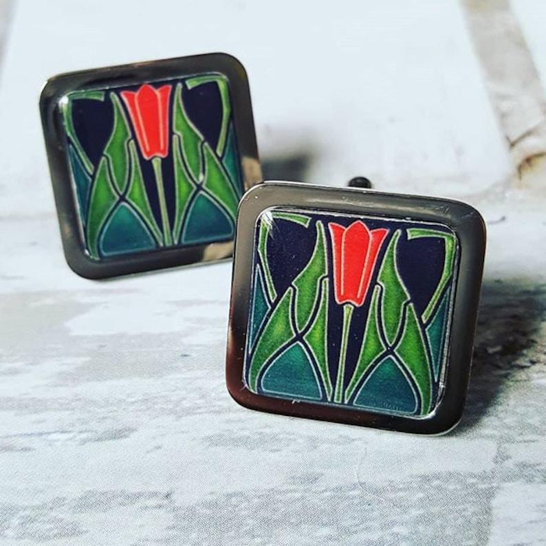 Art Deco Tulip Cufflinks