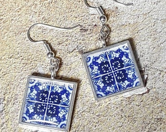 Lisbon Tile Earrings