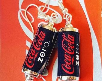 Coke Zero Can Earrings