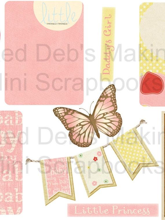 4050e1b856a69 Baby Girl Printable Collage Sheet