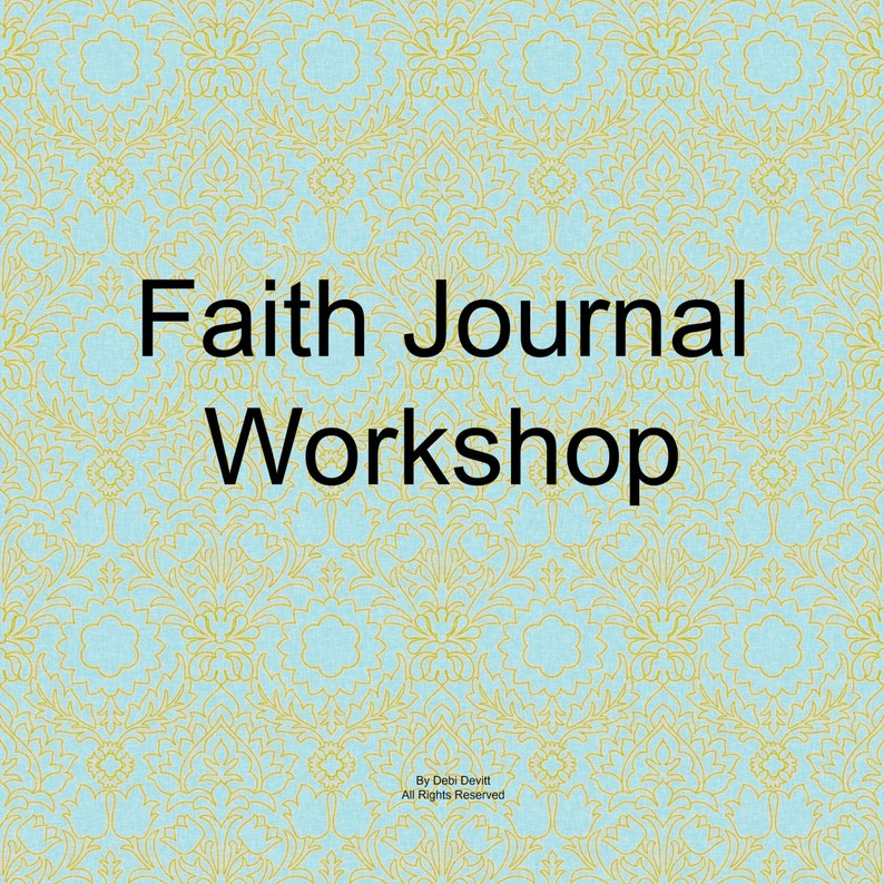 Printable Journal Faithbooking Journal Workshop and 40 image 0