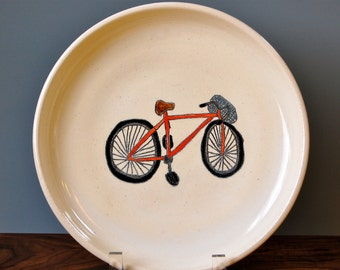 Red Bicycle Plate