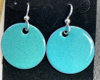 POP OF COLOR Enamel on Copper Earrings 28.00 per pair; Sterling Ear Wires; Choose your own style and/or color from the photos!