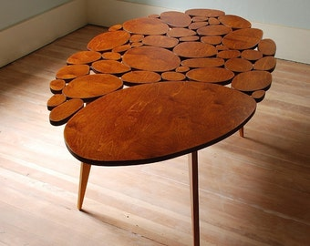 Modern Coffee Table, Midcentury Table, Retro Furniture, Contemporary Design, Wood Table