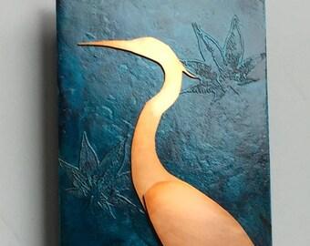 Heron Copper Art, 6x12 inches
