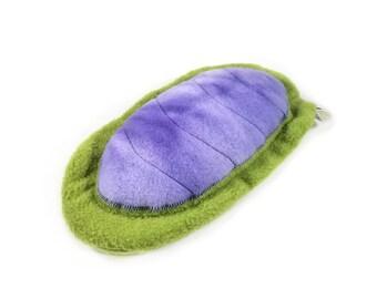Chiton // plush toy // green-purple